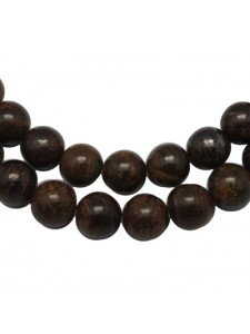 Bronzite (Coffee) 10mm Round Bead 15in