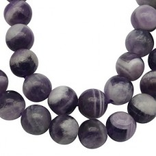 Amethyst Beads Round 16mm 15in strand