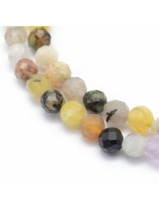 Natural Quartz mix beads 2mm fact ~150 b