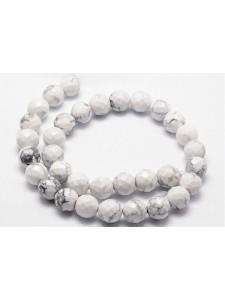 White Howlite RD facted 4mm ~96 beads
