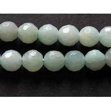 Amazonite (green) 6mm RD faceted 15in