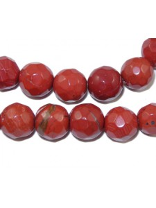 Red Jasper Faceted Rnd 8mm 14in strand