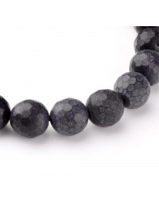 Black Stone 10mm Round Faceted ~38pcs