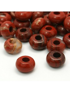 Abacus 14x8mm (H5mm) Red Jasper -EACH