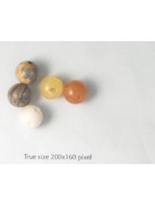 Semi-precious Beads 10mm Mixed 3 holes