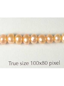 Pearl Abacus 5-6mm Peach/Pink Strand