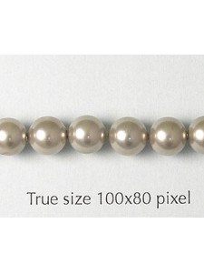 Shell Pearl 6mm Grey 16in