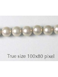 Shell Pearl 6mm Light Grey 16in