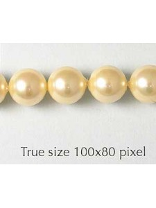 Shell Pearl 8mm Light Gold 16in