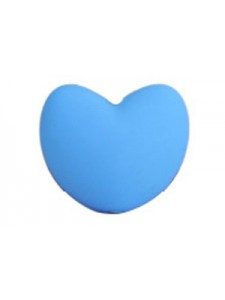 Silicone Heart 20x17x13mm 10pcs Skyblue