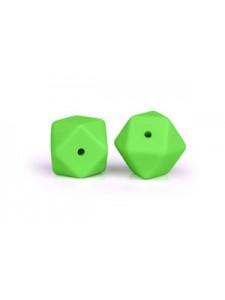 Silicone Hexagon 17mm 10pcs Light Green