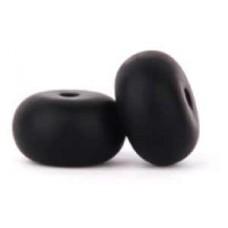 Silicone Abacus14x8mm 20pcs Smokey Black