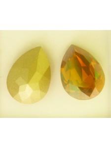 Swar Drop Stone 18x13mm Copper