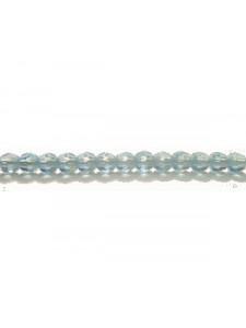 Swar Round Bead 3mm Aquamarine