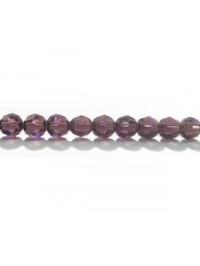 Swar Round Bead 4mm Amethyst
