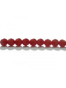 Swar Round Bead 4mm Dark Red Coral