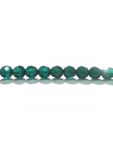 Swar Round Bead 4mm Emerald