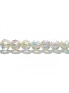 Swar Round Bead 5mm Clear Aurora Boreale