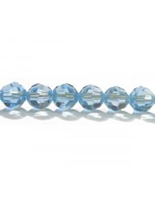 Swar Round Bead 6mm Aquamarine