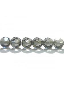 Swar Round Bead 6mm Black Diamond