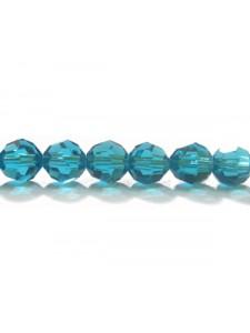 Swar Round Bead 6mm Blue Zircon