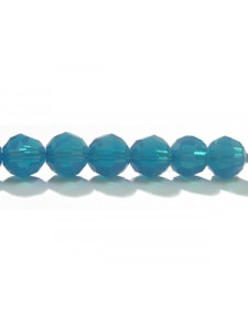Swar Round Bead 6mm Caribbean Blue Opal