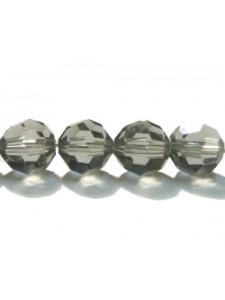 Swar Round Bead 8mm Black Diamond
