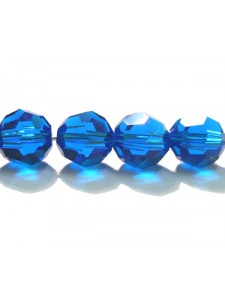 Swar Round Bead 8mm Capri Blue
