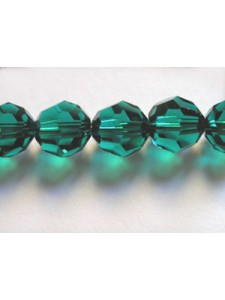 Swar Round 8mm Faceted Bead Emerald