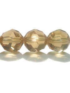 Swar Round Bead 10mm Light Color. Topaz