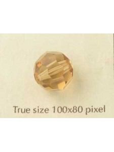Swar. Round Bead 12mm Lt Colorado Topaz