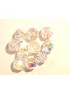 Swar Round Bead 12mm Clear AB