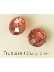 Swar Squashed Round Bead 12mm Red Magma