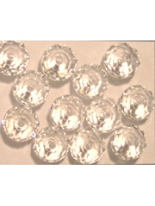 Swar Squashed Round Bead 8mm Clear