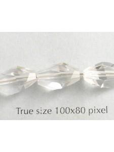 Swar Polygon Bead 12x8mm Clear