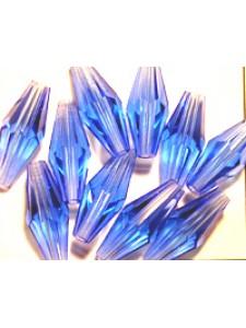 Swar Long Bi-cone 15x6mm Sapphire