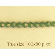 Swar Bi-cone 4mm Palace Green Opal