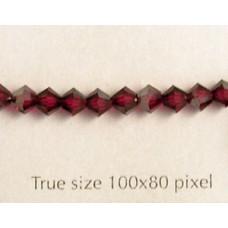 Swar Bi-cone 4mm Ruby Satin