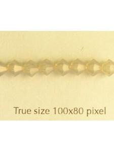 Swar Bi-cone 5mm Light Grey Opal