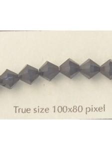 Swar Bi-cone Bead 6mm Dk Indigo