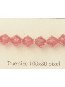 Swar Bi-cone Bead 6mm Indian Pink