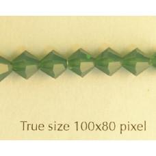 Swar Bi-cone 6mm Palace Green Opal