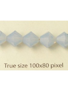 Swar Bi-cone Bead 8mm Air Blue Opal