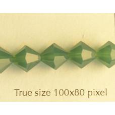 Swar Bi-cone 8mm Palace Green Opal