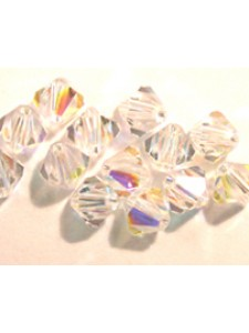 Swar Bi-cone Bead 10mm Clear AB