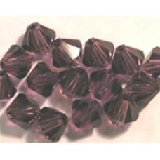 Swar Bi-cone Bead 3mm Amethyst