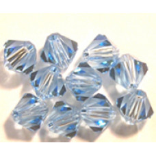 Swar Bi-cone Bead 3mm Aquamarine