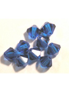 Swar Bi-cone Bead 8mm Capri Blue