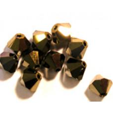 Swar Bi-cone Bead 3mm Dorado 2x