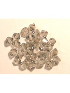 Swar Bi-cone Bead 5mm Clear Satin